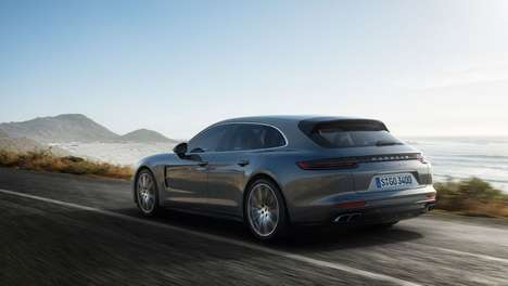 Sleek Supercar Wagons - The Porsche Panamera Sport Turismo will be Unveiled at the Geneva Motor Show
