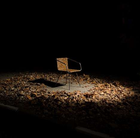 Dead Leaf Seating Solutions - The 'Beleaf' Recycled Chair is Made from Leaves and Cooking Oil Waste