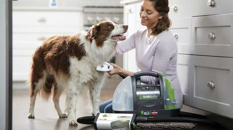 Dog-Washing Vacuum Cleaners - The Bissell 'BarkBath' Enables Dog Bathing in a Fraction of Time