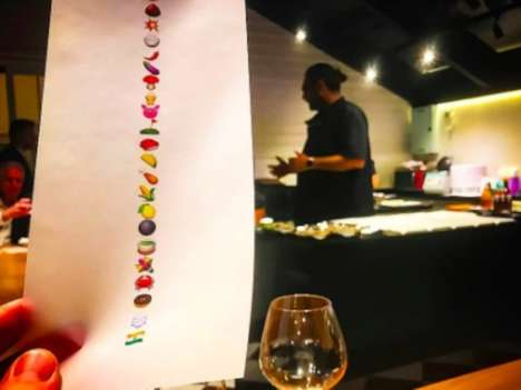 Emoji Tasting Menus - Bangkok's Gaggan Uses Icons to Represent Its Food Items