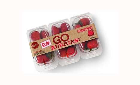 Snapping Snack Fruit Packaging - The DOLE 'GO Berries!' Fruit Container Packaging Breaks Apart