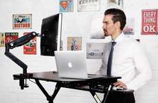 Adjustable Supplementary Desks - The FlexiSpot M-Series Sit-Stand Desktop Workstation is Ergonomic