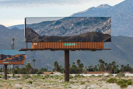 Landscape-Mimicking Billboards - These Billboards in California Draw Attention to Natural Beauty