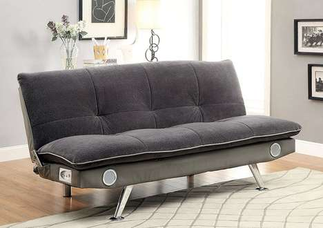 Speaker-Embedded Guest Beds - The Nuvia Bluetooth Speaker Futon Bed is Comfortable and Useful