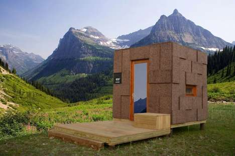 Prefab Outdoor Cork Cabins - The 'Ecocubo' Nature Cabin is Crafted Using Eco-Friendly Materials