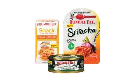 Prepackaged Seasoned Tuna Snacks