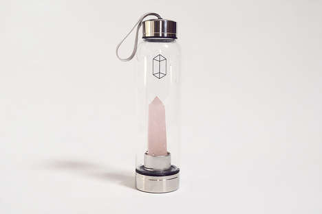 Crystal-Infused Water Bottles