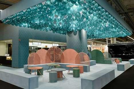 Minimalist Beachy Cafe Exhibitions