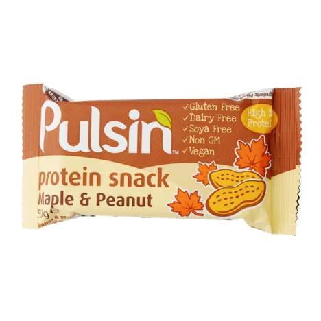 Vegetarian Protein Bars - Snack Bars by Pulsin' Provide 12 Grams of Protein from Plants