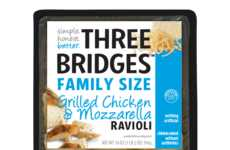 Refrigerated Ravioli Packs - Three Bridges Provides Clean, Gourmet Pastas for the Whole Family