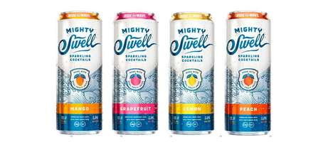 Tropical Craft Cocktails - The Mighty Swell Sparkling Cocktails are Exotically Island-Inspired
