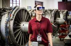 Professional Worker AR Headsets - The DAQRI AR Glasses Enable Engineers to Free Their Hands