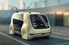 Autonomous Transportation Pods - Volkswagen's Sedric Car Pod Concept Looks to the Future of Driving