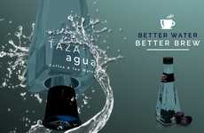 Specialized Coffee Waters - Taza Agua has a Unique Bottle Design to Emphasize Its Relation to Coffee