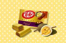 Exotic Fruit-Flavored Chocolates - The Limited-Edition Durian Kit Kat Chocolate Bar is Regional