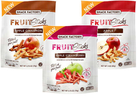 Crispy Fruit Sticks - Snack Factory's Natural 'Fruit Sticks' Boast a Satisfying Crispy Texture