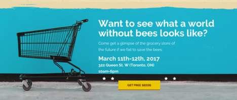 Futuristic Supermarket Pop-Ups