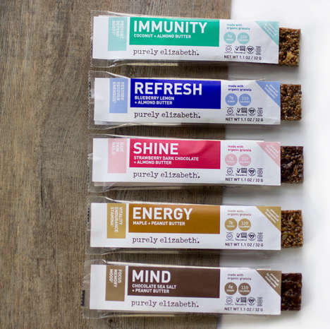 Functional Granola Bars - Purely Elizabeth's Wellness Bars Boast Two Grams of Superfood Mushrooms