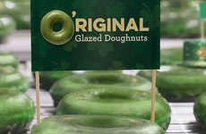 Festive St. Patrick's Day Donuts - Krispy Kreme's O'riginal Glazed Green Donut is a Festive Treat