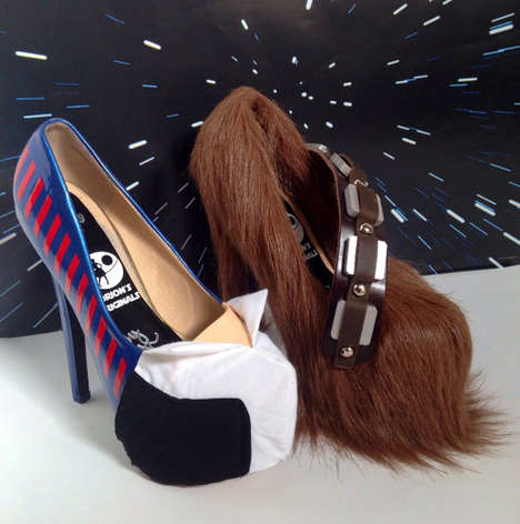 Mismatched Sci-Fi Stilettos - These Han And Chewbacca Heels Pay Tribute To A Legendary Friendship