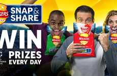 Sporty Selfie Snack Bags - Walkers Crisps' Special Chip Packages Encourage Selfies and Sharing