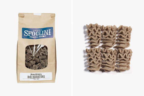 Leftover Brewery Malt Pastas - The Sfoglini BxB Radiators Flavored Pasta is Nutty and Hearty