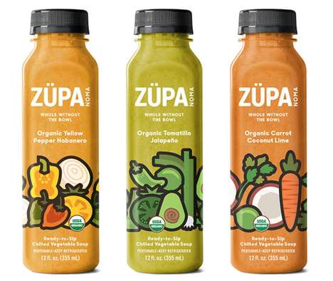 Wholesome Bottled Soups - The Züpa Noma Vegetable Soups are Ready to Drink Out of the Bottle