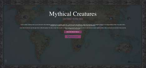 Interactive Mythical Creatures Guides - Expedia Created a Unique Mythical Creatures Map for Travel