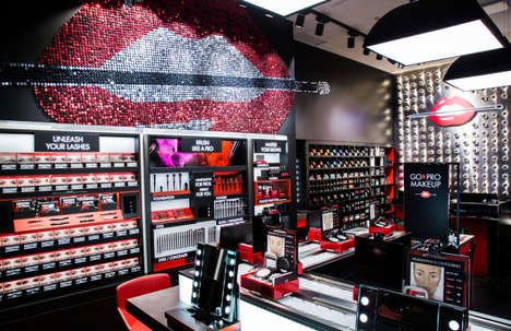 In-Store Makeup Stations - Make Up For Ever's New Flagship Store Features Go Pro Make Up Stations