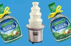 Cascading Salad Dressing Dispensers