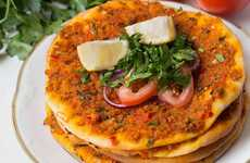 Meat-Free Turkish Pizzas - The Lahmacun Recipe Does Away with Meat and Dairy Products
