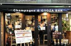 Champagne Dumpling Bars - This Japanese Bar Spotlights Gyoza and Champagne Pairings