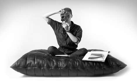 Premium Leather Seating Pillows