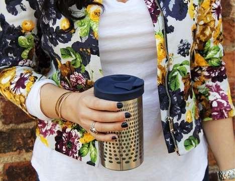 Insulated Coffee-Brewing Mugs
