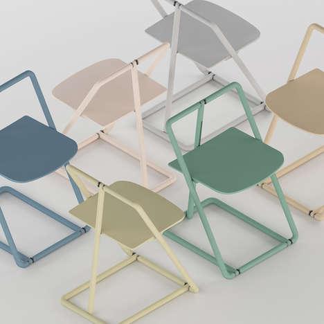 Modern Skeletal Folding Chairs