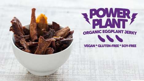 Eggplant Jerky Snacks - Power Plant is Now Making Alternative Jerky Meat with Eggplants