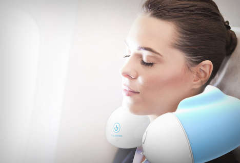 Jet Lag-Eliminating Pillows - The 'E-Sleeping' Sleeping Pillow is Packed with Smart Technology
