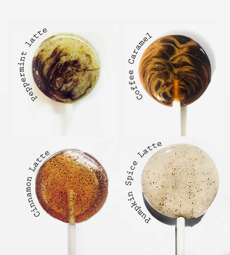 Latte-Flavored Lollipops - These Confections from Leccare Lollipops Boast Coffee Candy Flavors