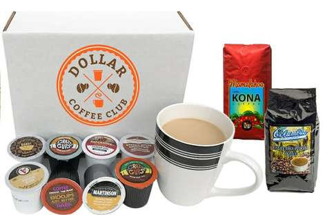 One-Dollar Coffee Subscriptions - 'Dollar Coffee Club' is an Inexpensive Coffee of the Month Club