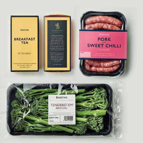 Contemporary Supermarket Rebrandings - Booths Has Made Its Packaged Products Simple and Modern