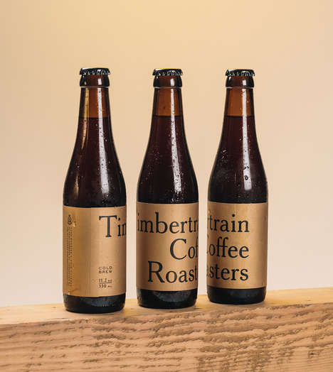 Gilded Coffee Branding - Timbertrain Coffee Was Packaged in a Way That Makes It Appear High Quality