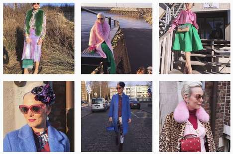 Vibrant Boomer Fashion - Greet Moens' journeyofastylist Instagram Account Breaks Style Boundaries