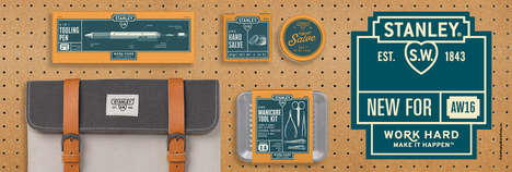 DIY Accessory Collections - Wild & Wolf Created a Range of Gift Ideas for Men with Stanley Tools