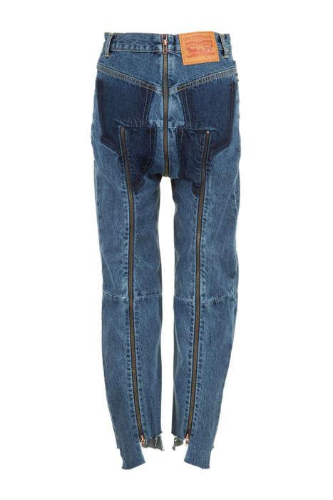 Zipper-Heavy Denim Fashion
