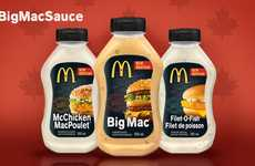 Fast Food Sandwich Sauces - McDonald's Canada is Set to Launch Bottled Sauces in Spring
