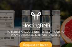 Homeshare Toiletry Kit Services - 'HostingBNB' Sends Out Comfort Kits to Airbnb Hosts for Guests