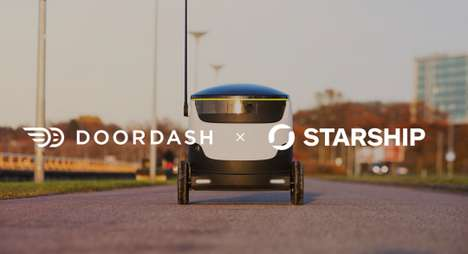 Food Delivery Robots - DoorDash is Partnering with Starship Technologies to Offer Robot Delivery