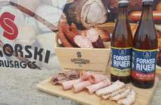 Protein-Rich Beer Pairings - Forked River Brewing Co. Created a Tasting Menu for Beer and Sausages