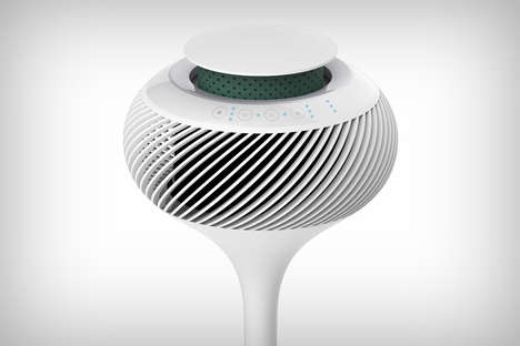 Air-Cycling Purification Fans - The 'Wind Ball' HEPA Air Filter Fan Cleans and Circulates Air