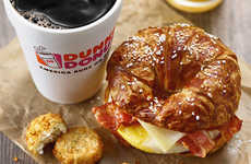 Crusty Pretzel Breakfast Snacks - The Dunkin' Donuts Pretzel Croissant Breakfast Sandwich is Savory